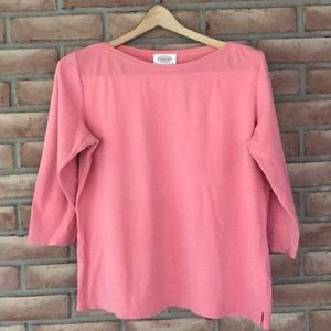 Talbots size M dusty rose top with 3/4 sleeves